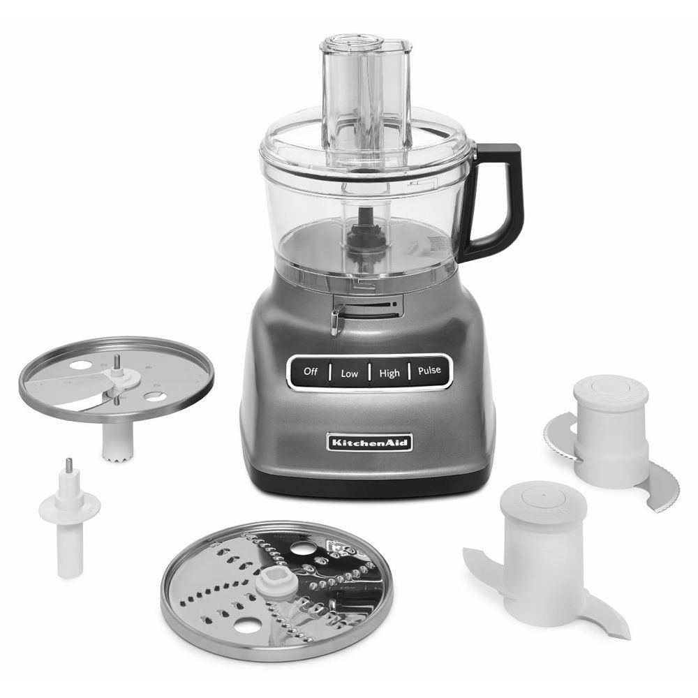 KitchenAid KFP0722CU Contour Silver 7-cup Food Processor with ...