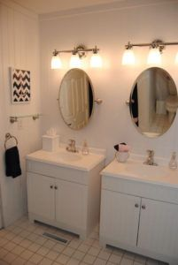 bathroom stylish oval gold white tray mirror for with within awesome mirrors vanity wall