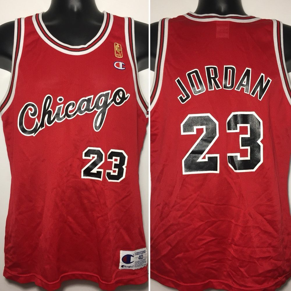 9e4fa60c9 Vintage Michael Jordan Chicago Bulls Rookie Champion Throwback Jersey Size  40 M  MichaelJordan