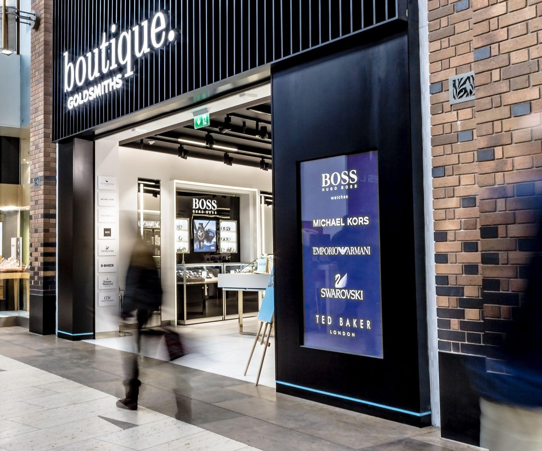 boutique.Goldsmiths jewellery store design fascia