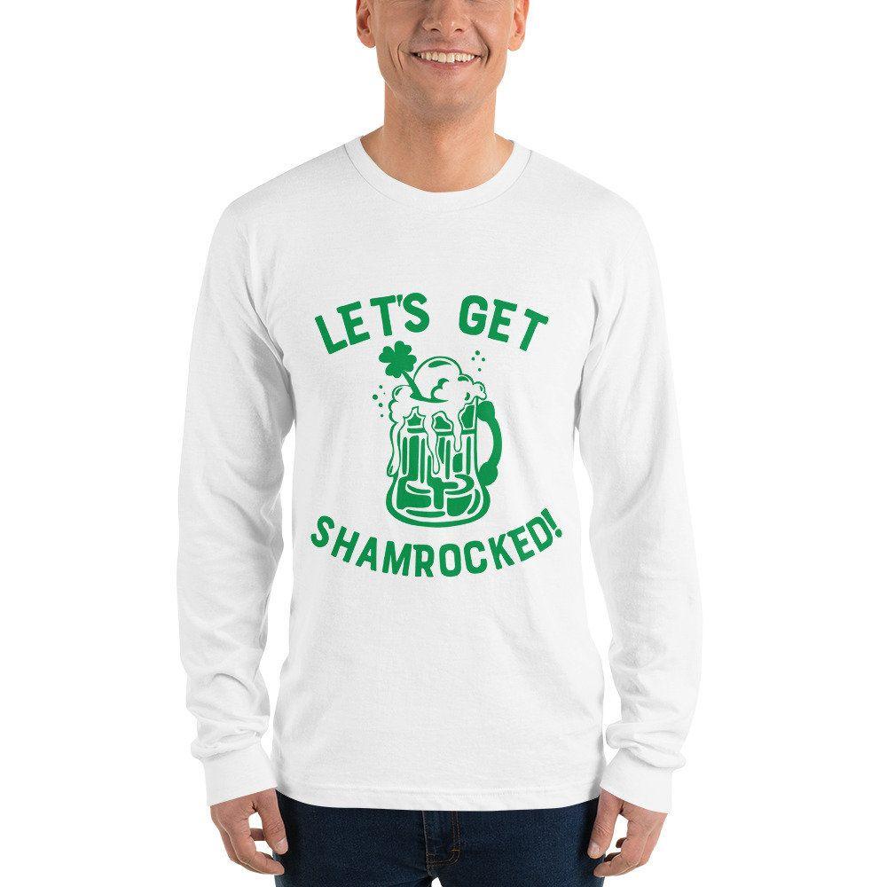 ff79bc473 Lets get Shamrocked St Patricks Day Long sleeve t-shirt, beer shirt, drinking  shirt