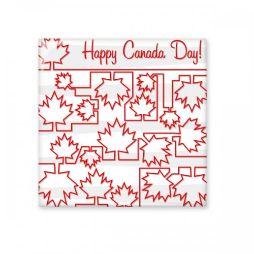 happy canada day 4th of july maple leaf joined up painting ceramic