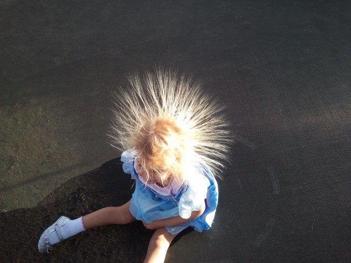 Trampoline Bad Hair Day