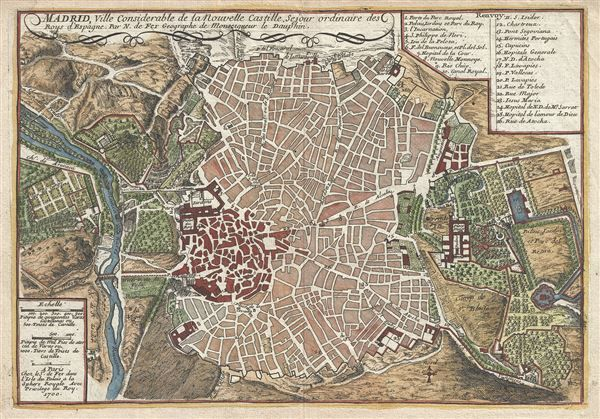 Map Of Spain 1700.1700 De Fer Map Or Plan Of Madrid Spain In 2019 Antique Maps