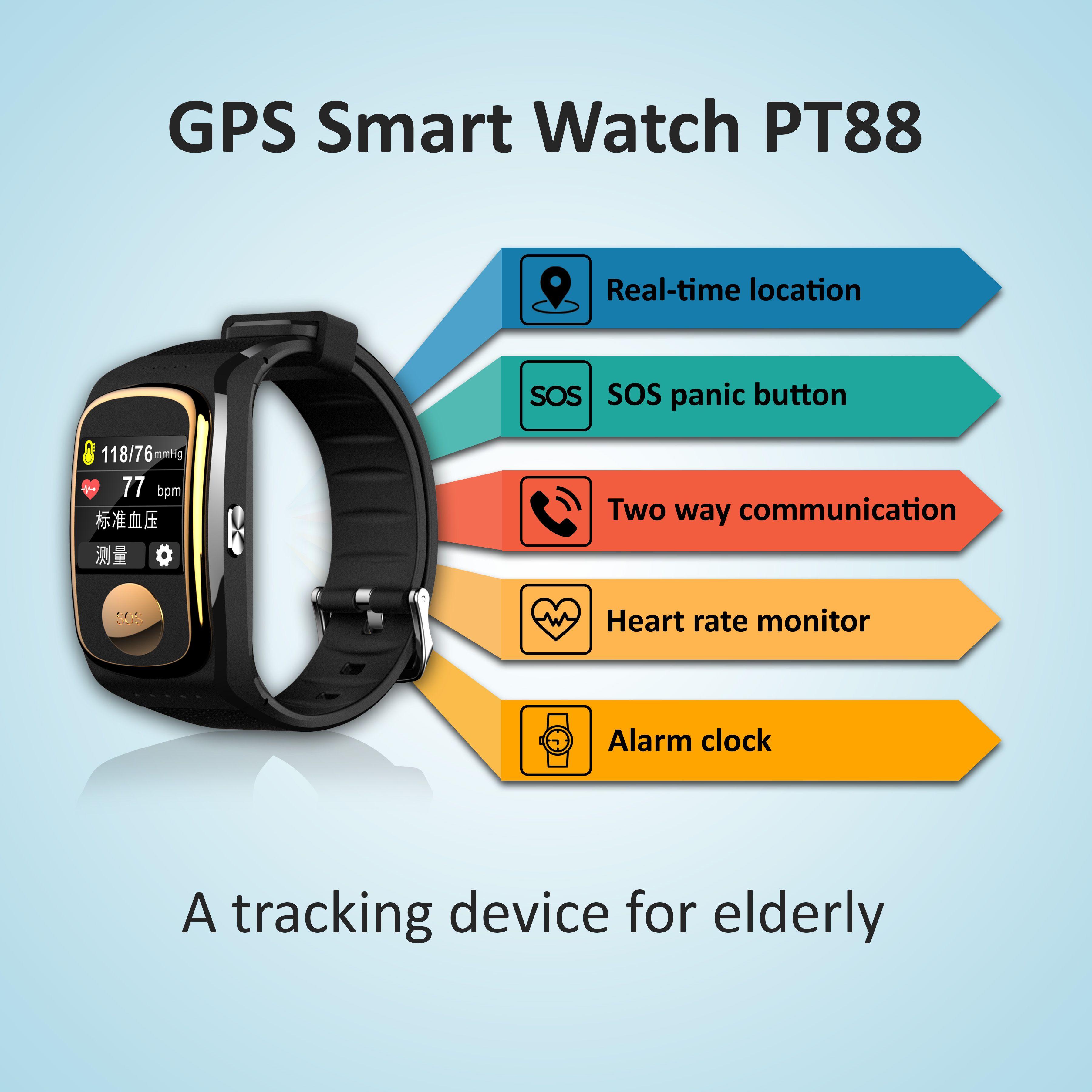 Alzheimers dementia patient gps tracking watch gps