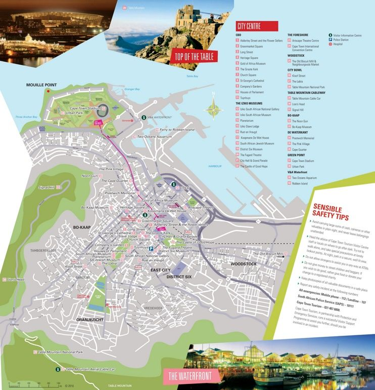 Cape Town tourist attractions map Maps Pinterest Cape town