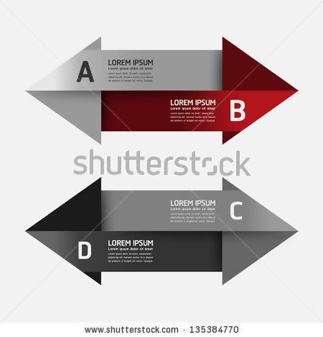 Modern Design template can be used for infographics numbered - horizontal organization chart template