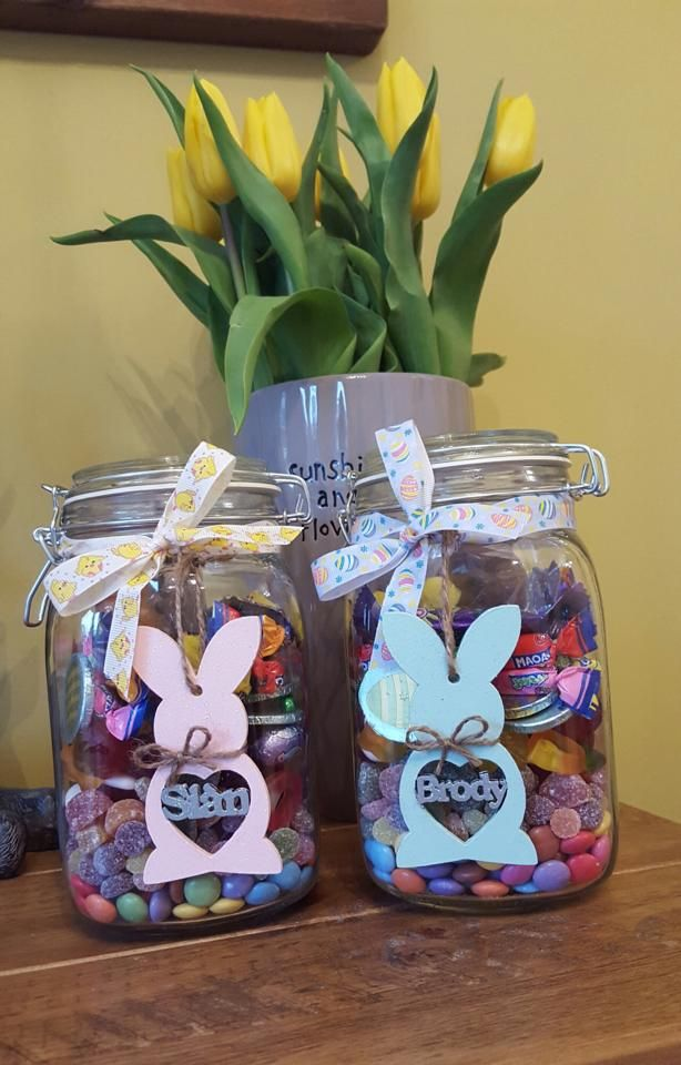 58 Cutest Easter Bunny Mason Jar Designs To Welcome Spring In A