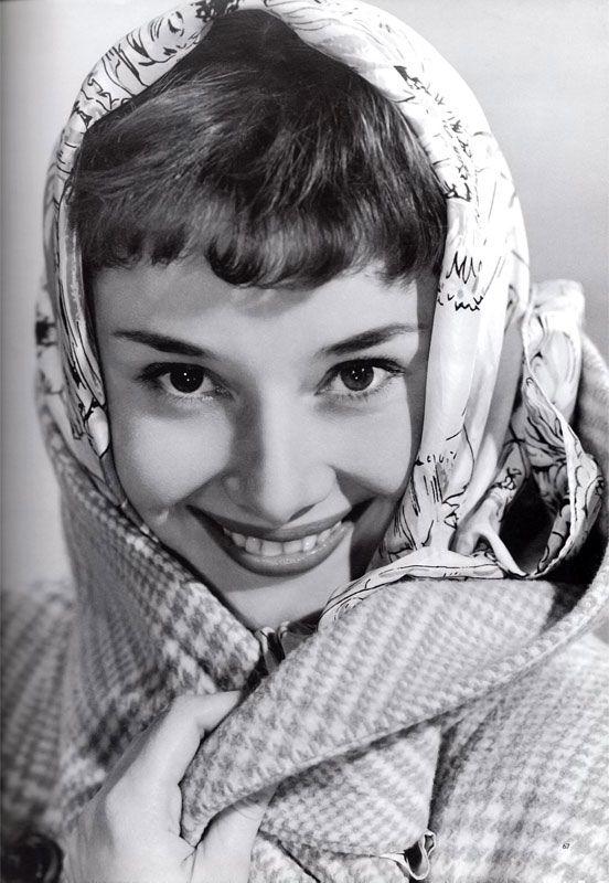 """""""When I wear a silk scarf I feel so definitely like a woman, a beautiful woman."""" Audrey Hepburn"""