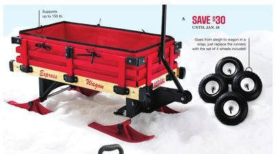 Shared From Flipp Millside Convertible Wagon Sleigh In The Sears Catalogue Flyer