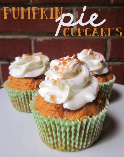 -1 box yellow cake mix  -1 can organic pumpkin  -1 heaping tbsp brown sugar  -2 tsp pumpkin pie spice (OR, 1 tsp cinnamon, 1/2 tsp ground ginger, 1/4 tsp nutmeg, 1/4 tsp ground clove)  -a pinch of salt Mix all ingredients together. No need for oil, butter, or eggs.. the pumpkin acts as the binder in the recipe.  Scoop into cupcake liners and bake @ 350 for about 20 minutes (depending on your oven).  Let cool. Top with whipped cream and brown sugar.