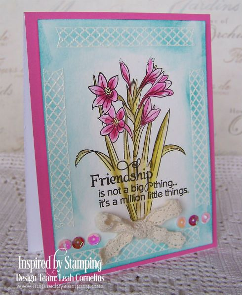 Inspired by Stamping, Leah Cornelius, Friends Forever, Friendship card