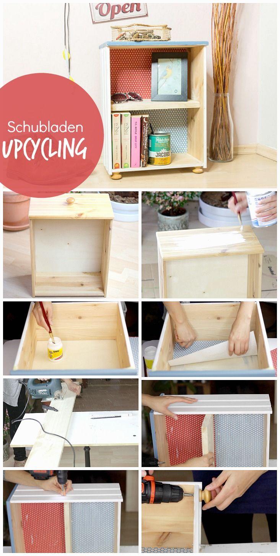 Upcycling von alten Schubladen DIY Dekoration & Möbel Inspiration