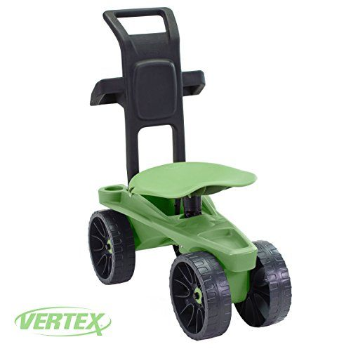 Easy Up Deluxe Xtv Rolling Seat And Scoot Gardening Scooter Adjustable Swivel Seat Heavy Duty Wheels And Ergonomic Heavy Duty Wheels Yard Cart Swivel Seating
