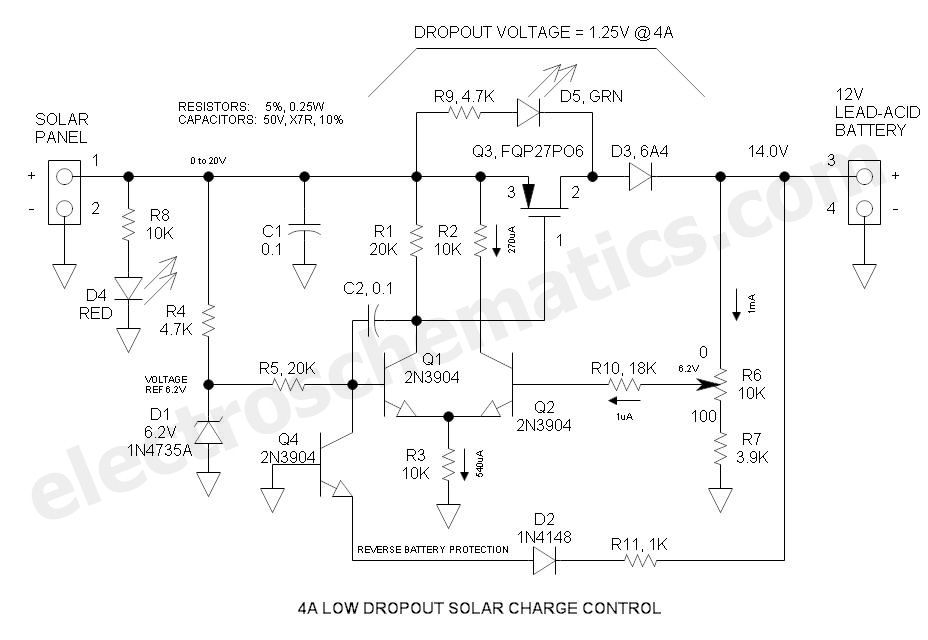 12v Solar Charge Controller Circuit Circuit Electronic Circuit Design Electronics Circuit