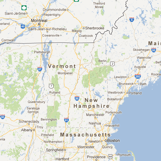 New Hampshire Covered Bridge Map for your next road trip Places