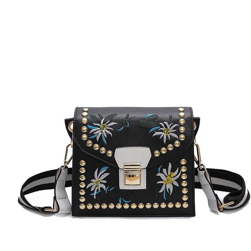 cbf7b9904f Ladies Shoulder Custom Leather Embroidery Flower Flap Bag   Price   26.95    FREE Shipping     hashtag1