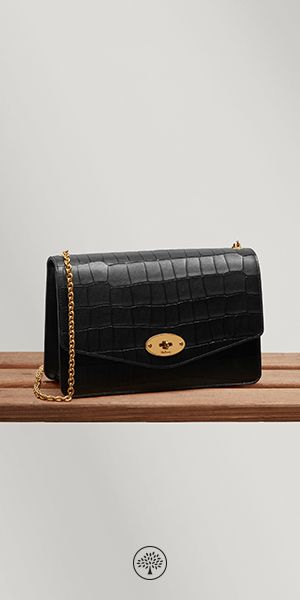 4934cb46c23b Shop the Darley in Black Deep Embossed Croc Leather at Mulberry.com. A  classic
