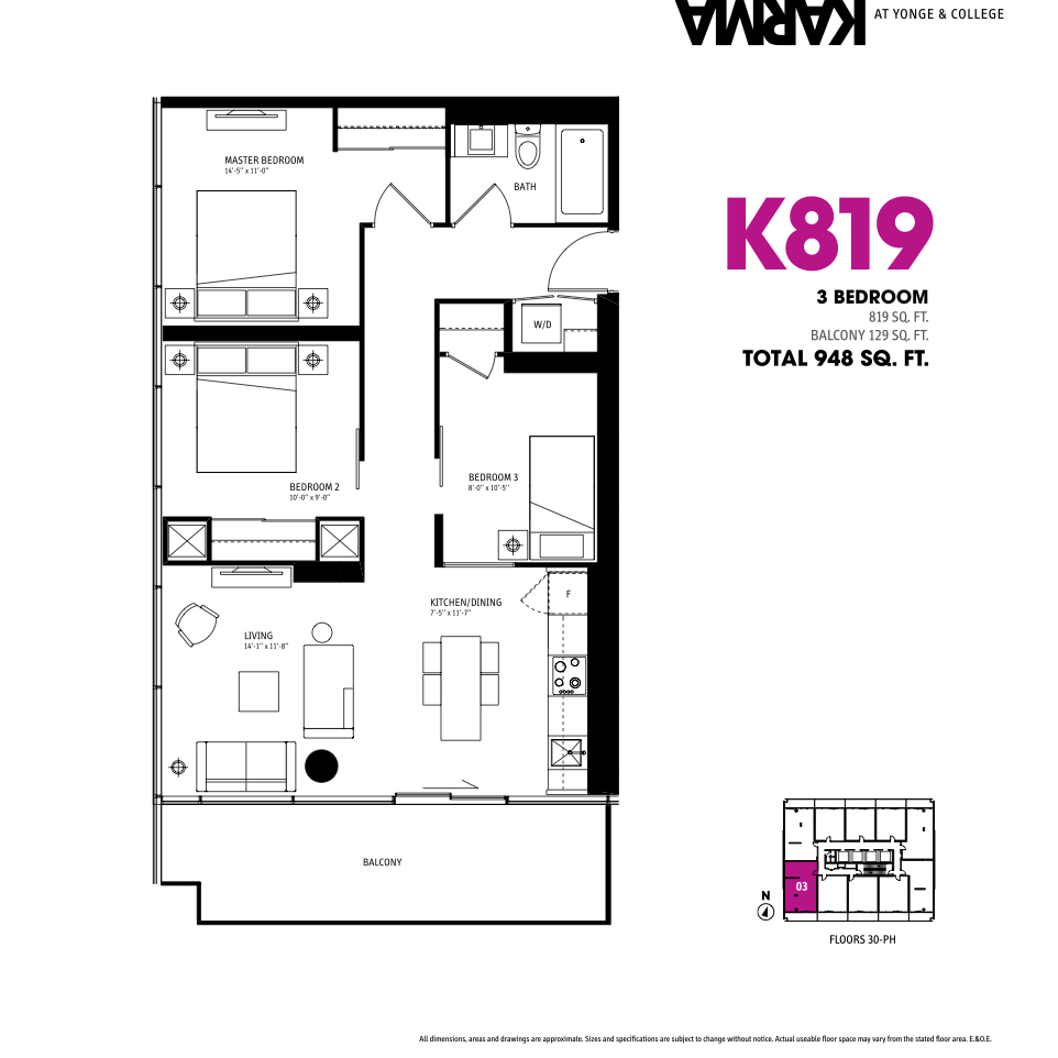 3 bedroom floorplans | karma condos | 3 bedroom floor plans | for