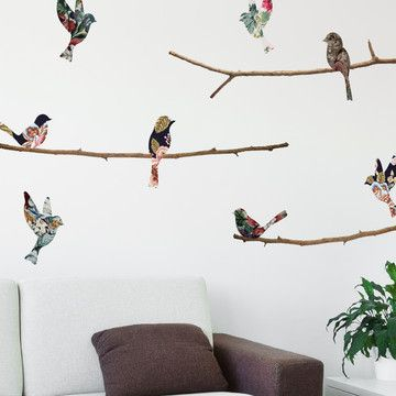 Tapestry Birds  Branches Decal home decor Pinterest Bird