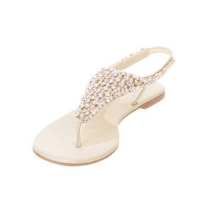 ae43585e399a WOMENS LADIES NUDE DIAMANTE SLINGBACK SHOES WEDDING PROM SANDALS SIZE 3-8