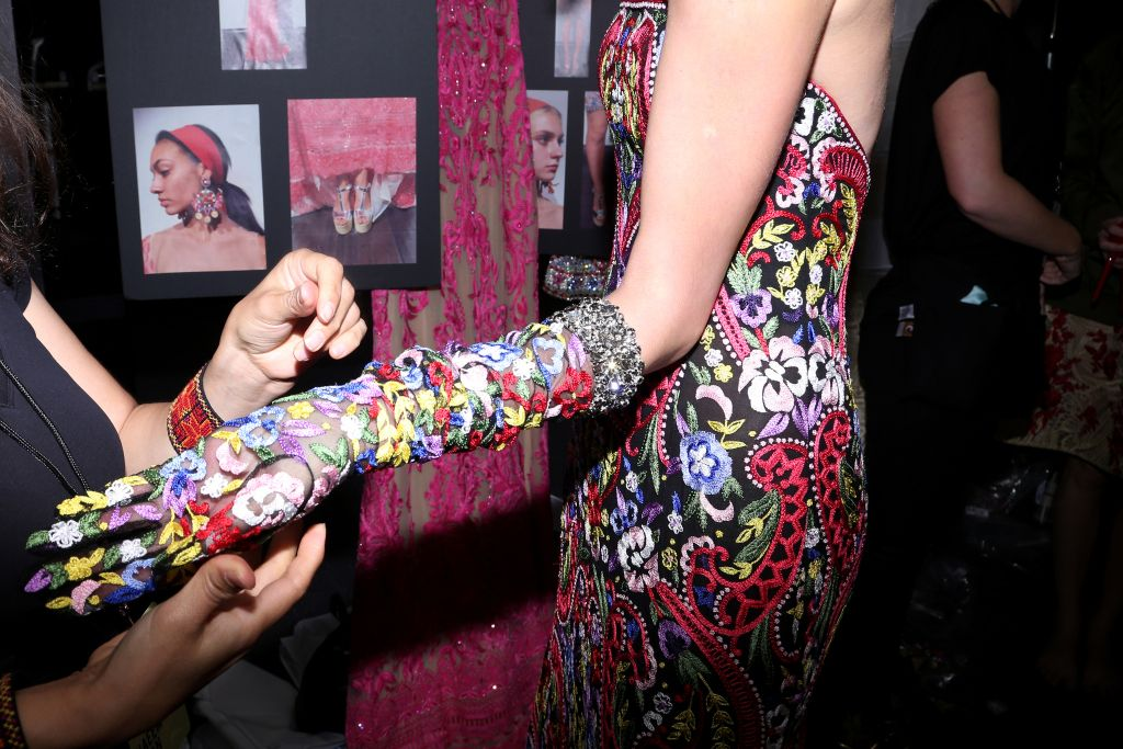 Backstage at Naeem Khan RTW Spring 2016