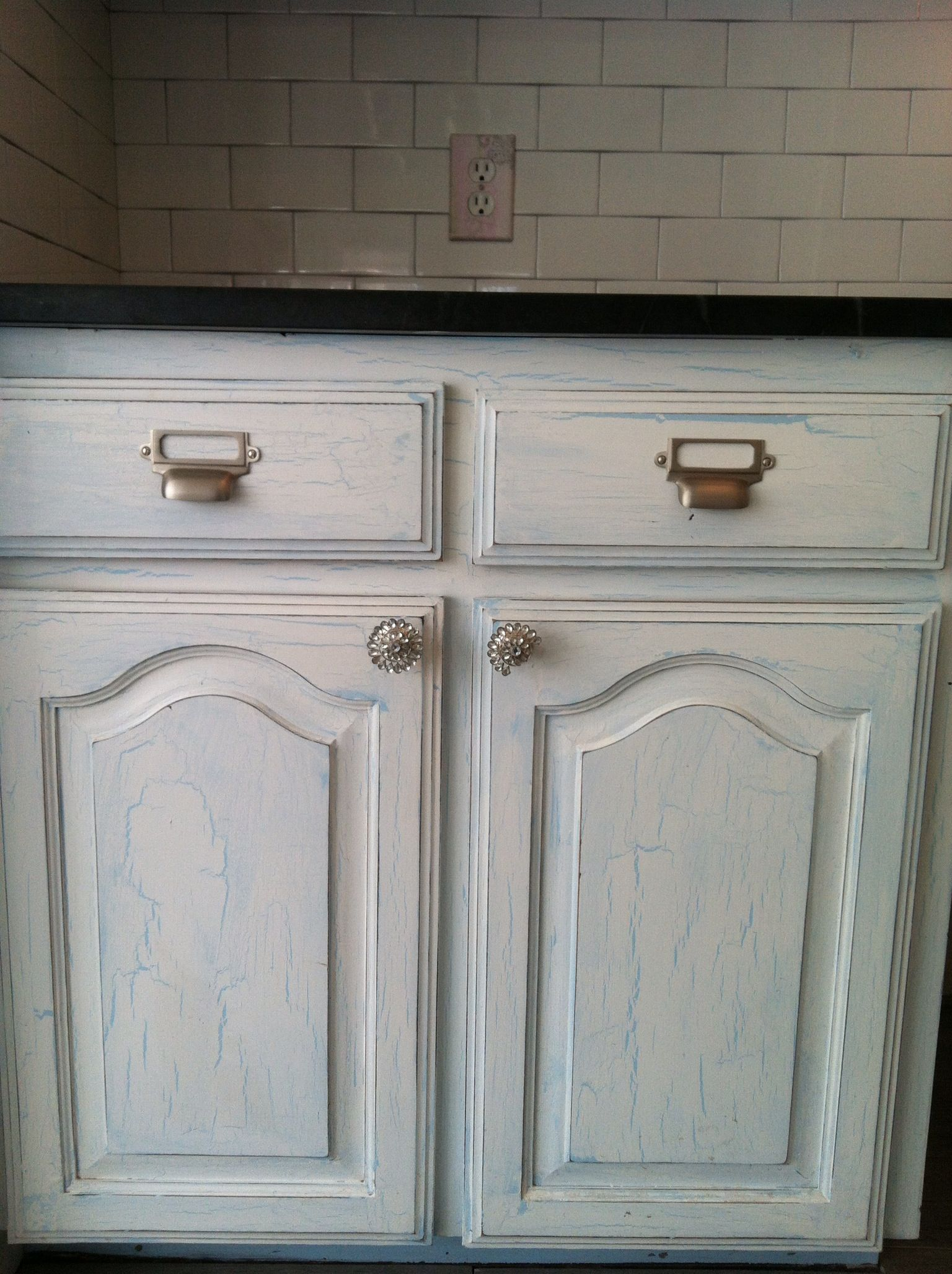 Crackle finished cabinets | Home projects, Diy home decor ...