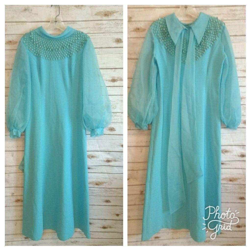 S jeweled neckline hostess dress products