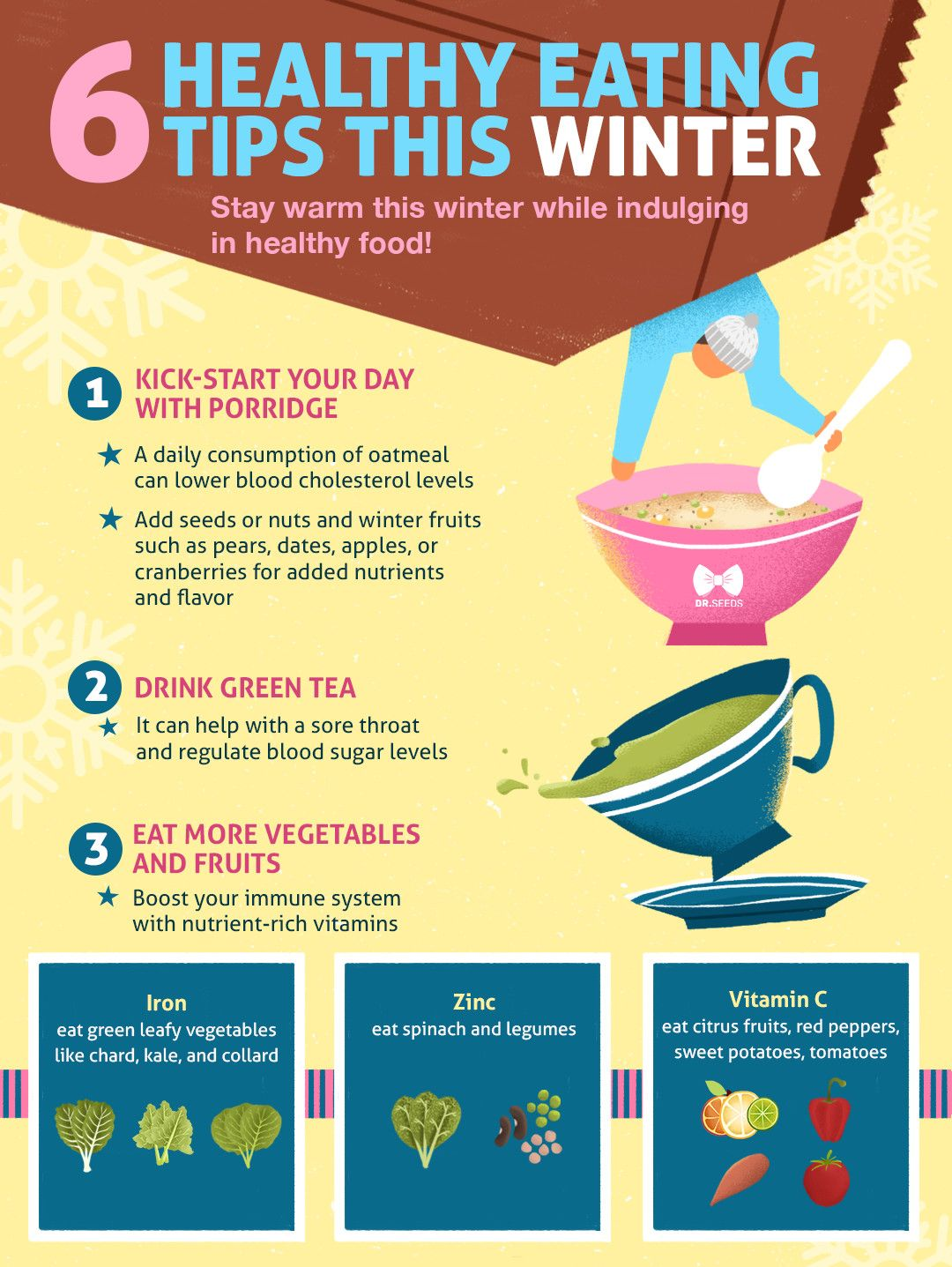 9 Healthy Eating Tips This Winter Infographic
