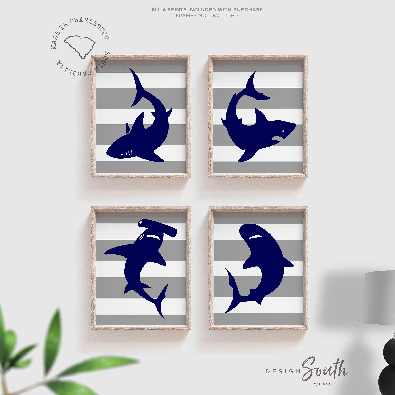 shark playroom art boys shark bedroom decor toddler
