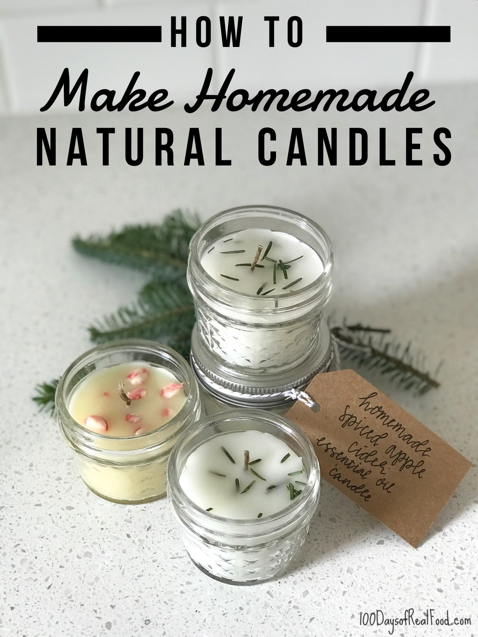 How to Make Homemade Natural Candles #candlemakingbusiness