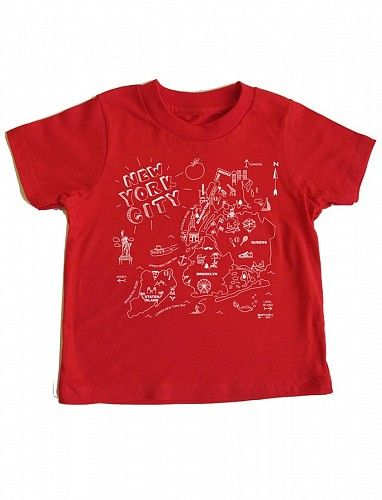 Maptote - NYC toddler tee in red