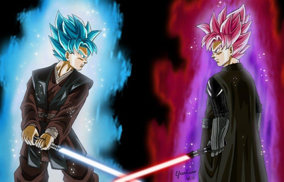 Dbz/Star Wars crossover drawing, Goku(Anakin) vs Goku
