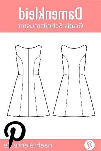 Sommerkleid in A-Linie für Damen - gratis Schnittmuster Sommerkleid in A-Linie für Damen - gratis Schnittmuster