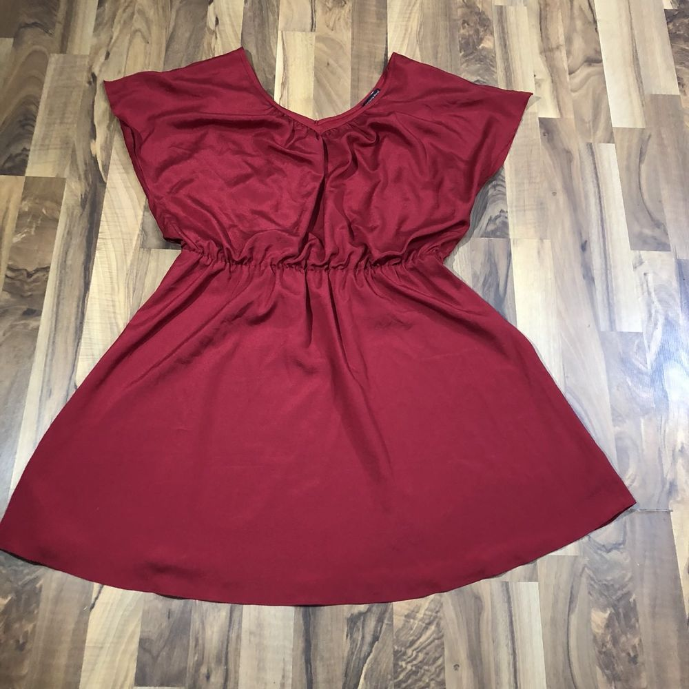 Nwt womens plus size x gorgeous solid red empire waist tunic top