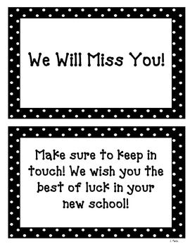 We Will Miss You Book Freebie By Mrs Martin S Room Teachers Pay Teachers Miss You Gifts Miss You Cards Teacher Cards