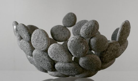 Photo of Decorative ideas with stones for inside and outside