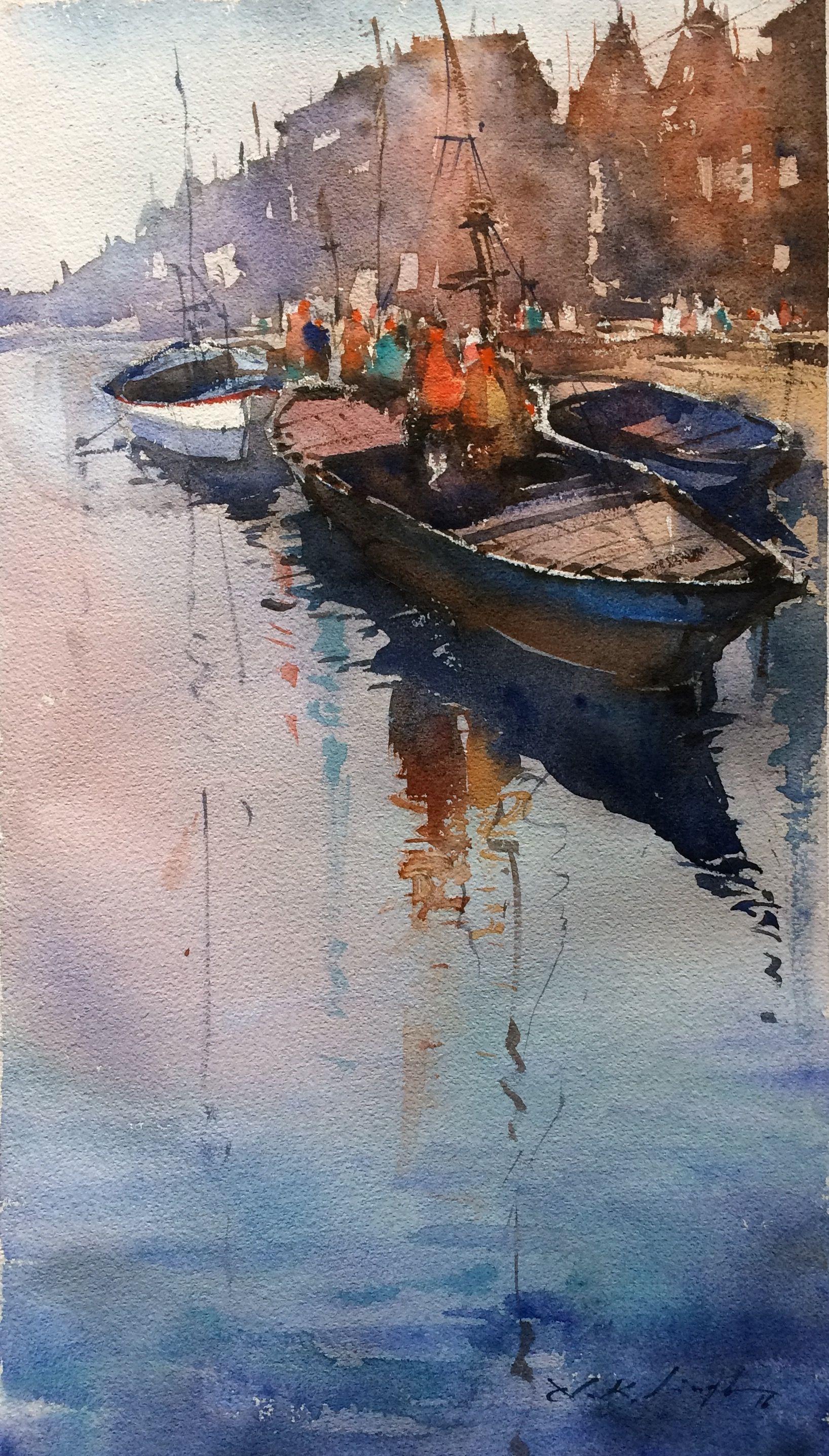 Fine watercolor art for sale -  Online Art Gallery Of Water Paint Art Original Art For Sale Nitin Singh