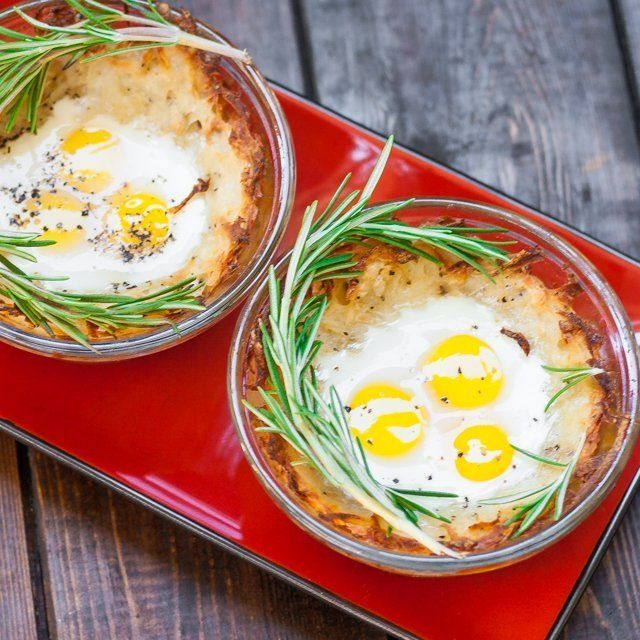 Quail Eggs in Hash Browns Nests FoodBlogs.com