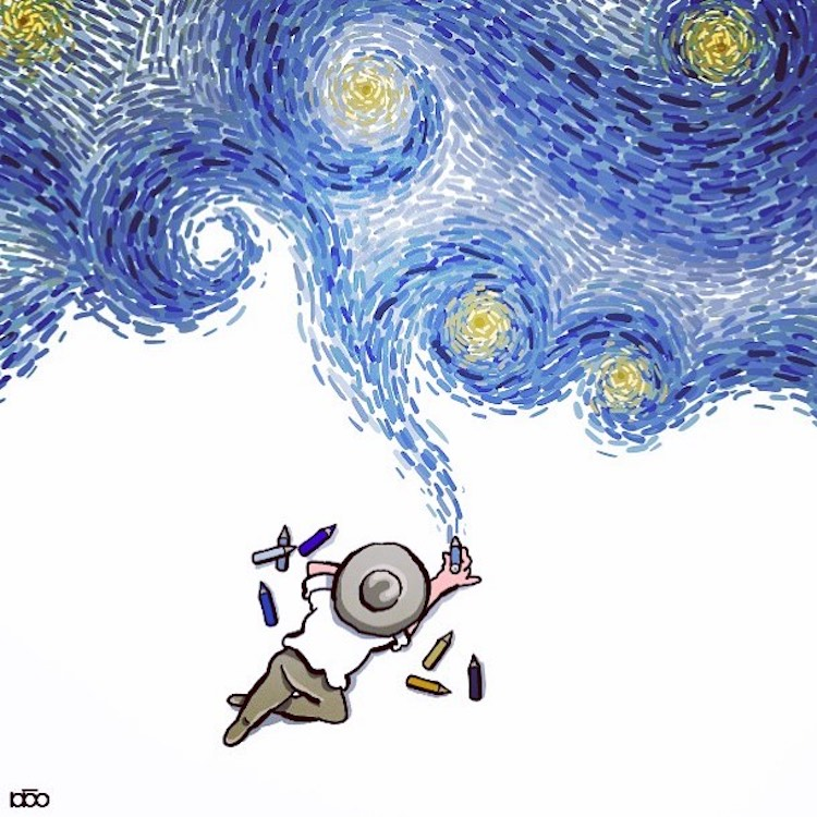 Cartoonist Illustrates the Remarkable Life of Vincent van Gogh in Colorful Comics