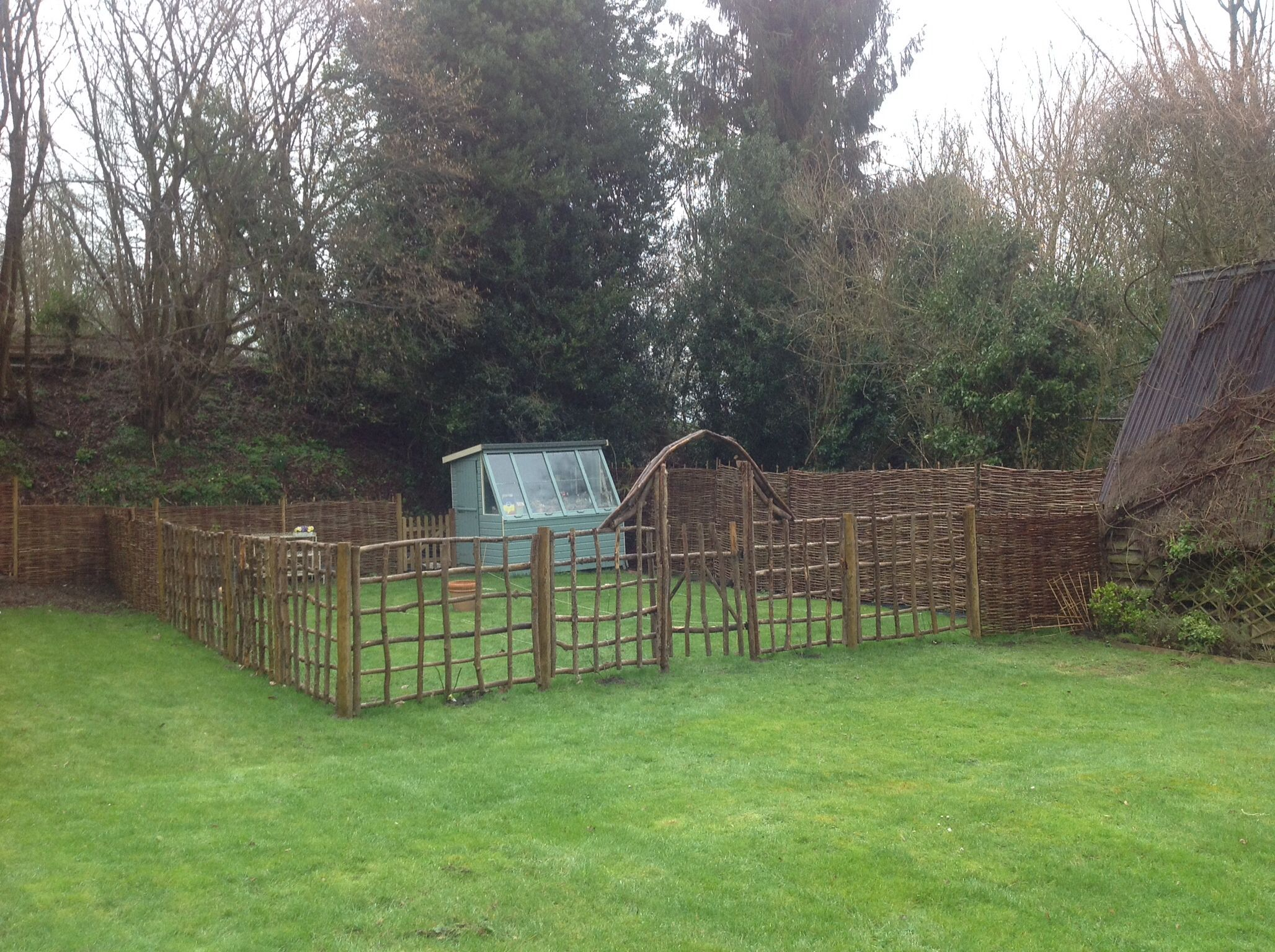 Superieur Chestnut Trellis As Fencing For Intended Vegetable Patch. With Gate And  Arch. All From Natural Fencing UK.