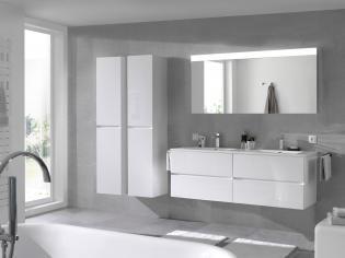 Moderne Witte Badkamer : Moderne badkamer wit glanzend asymmetrisch storke prisma salle