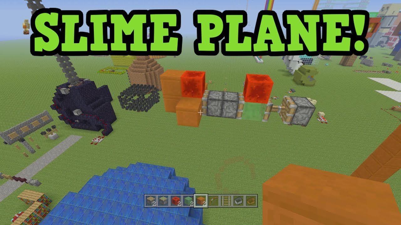 Minecraft Xbox PS PLANE Missile Tutorial Slime Block - Minecraft spiele ps3