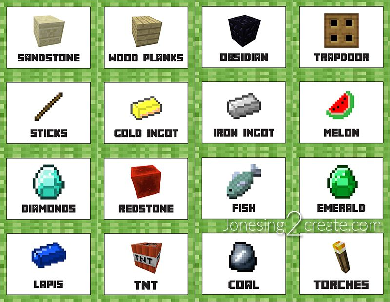 Vibrant image throughout minecraft labels printable
