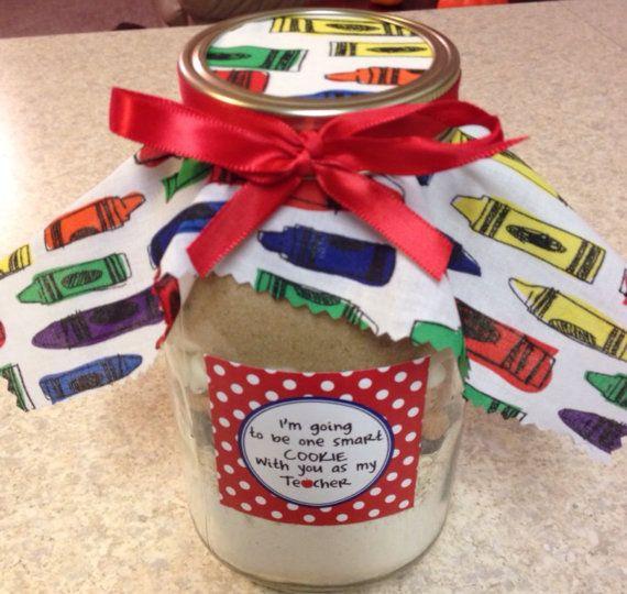 Quart Size Gourmet Mason Jar Cookie Mix Teacher by FabRustic