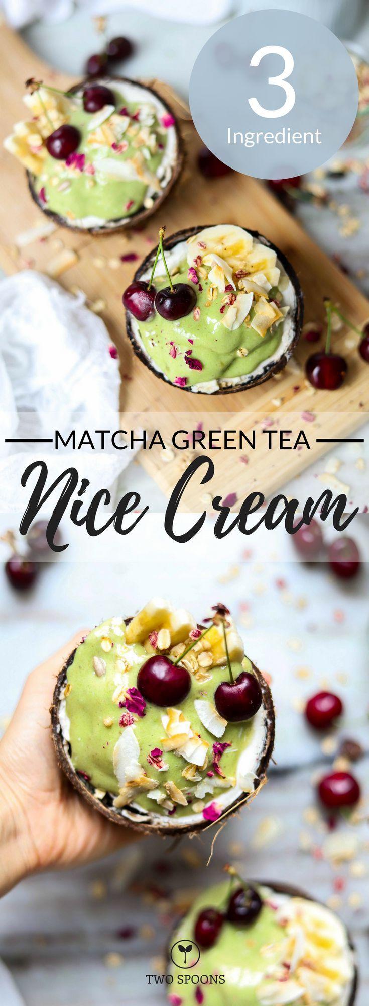 Photo of Matcha Green Tea Nice Cream   Frozen Treat   Two Spoons