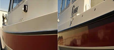 Shine On With No Buffing Is A Wipe On Restoration Clear Coat That Will Restore The Surface Of Dull And Oxidized Fi Boat Service Boat Storage Dream House Plans