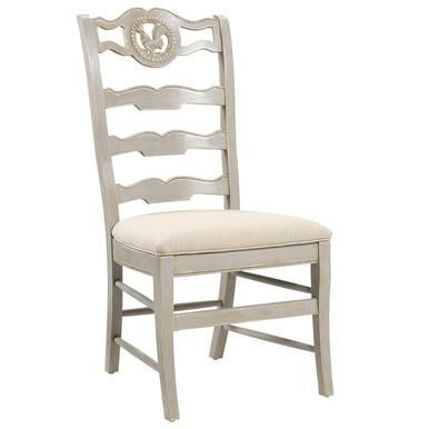 Amazing Side Chair Dining French Heritage Maison Rooster Ladder Back Alphanode Cool Chair Designs And Ideas Alphanodeonline