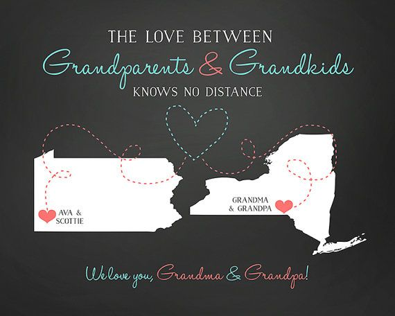 Gift for Grandparents from Grandchildren, Personalize Christmas Gift for Unique Father Mother from Granddaughter Grandson Grandkids | WF165 #grandchildrenquotes