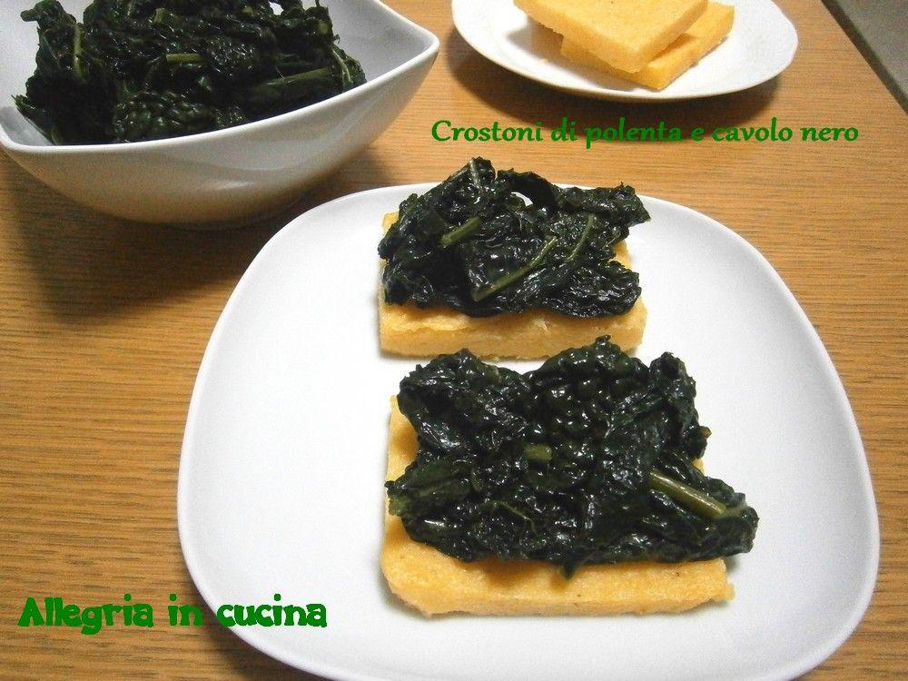 Crostoni di polenta e cavolo nero